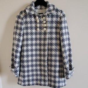 J.Crew gray houndstooth wool coat